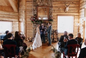 wedding ceremony at the bentwood inn