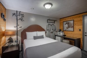 Canyons Lodge single cozy queen bed