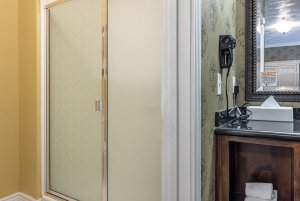 canyons boutique double queen room shower