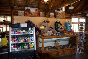 Food bar in main lodge