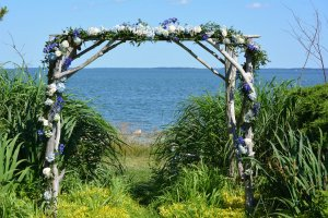 Black Walnut Point Weddings Altar by the water