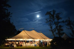 Black Walnut Point Weddings tent at night