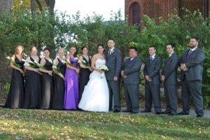 Chapel of the Archangels outdoors bride groom bridesmaids groomsmen