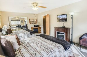 double queen beds with TV