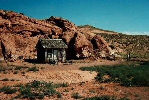 A small historic cabin