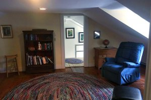 bookcase in rug