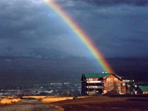 Syringa Lodge Rainbow after Rainstorm