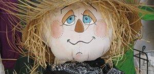 Stuffed Scarecrow at a craft fair