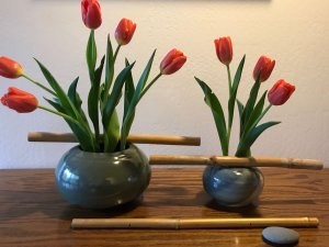 IkebanaTulip Flower Arrangement