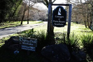 Osprey Peak Bed and Breakfast and Cottages at Point Reyes Seashore signs