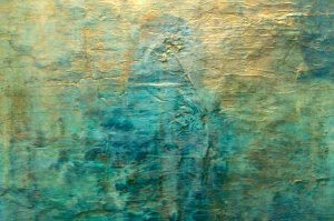 blue and turquoise abstract art