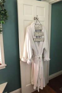Plush robes for your visit