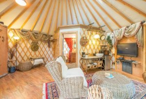 inside yurt