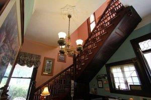 An indoor stairway