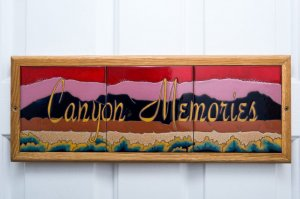 Canyon memories tile room sign  | The Inn at 410, Downtown Flagstaff, AZ