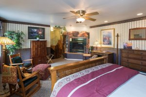 bed and chairs with ottoman  | The Inn at 410, Downtown Flagstaff, AZ