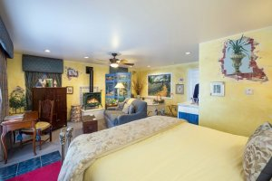 bedroom with wall murals | The Inn at 410, Downtown Flagstaff, AZ