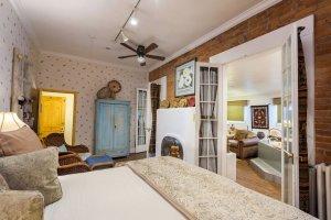 bed and open glass doors | The Inn at 410, near Sedona, AZ