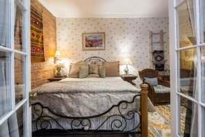 bedroom with native american decor | The Inn at 410, near Sedona, AZ