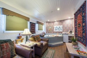 leather sofas and corner tub | The Inn at 410, near Sedona, AZ