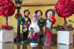 christmas carol-singing figurines | The Inn at 410, Historic Downtown District Flagstaff, AZ