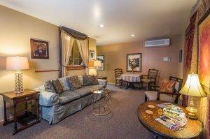 sofa with bedside lamps | The Inn at 410, near Sedona, AZ