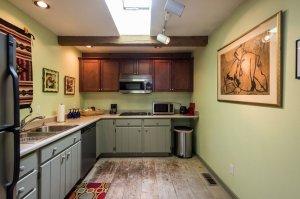 full kitchen with chrome appliances | The Inn at 410, near Sedona, AZ
