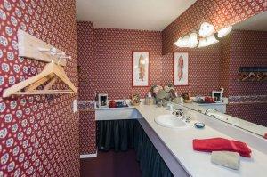 bathroom sink and wall pegs   The Inn at 410, near Sedona, AZ