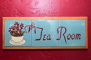 The Tea Room tile room sign | The Inn at 410, near Sedona, AZ