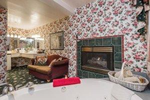 bathtub beside fireplace   The Inn at 410, near Sedona, AZ