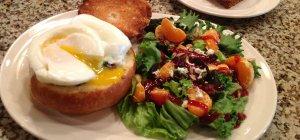 Summer Creek Inn Breakfast eggs and salad