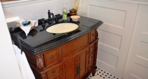 bathroom sink and counter