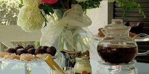Chocolates and tea