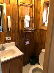 bathroom in cabin 3