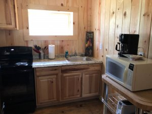 kitchen in cabin 3