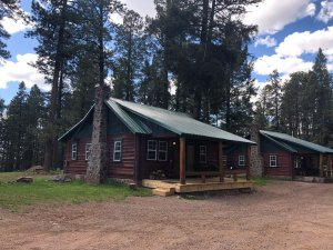 The exterior of cabin 4