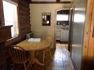 the dining table in cabin 4