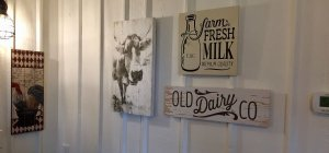 Dairy company wall decor