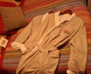A snowberry Inn bathrobe