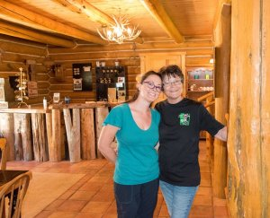 Two smiling women at the Inn