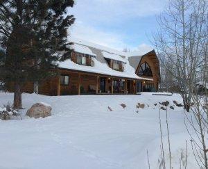 Snowberry Inn exterior in winter