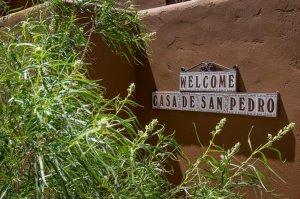Sign reading Welcome - Casa de san pedro