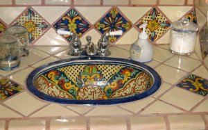 Decorated sink