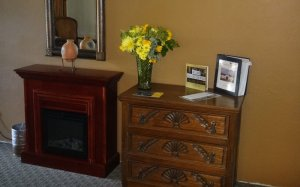 Dresser and electric fireplace