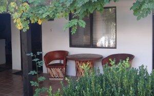 A small patio