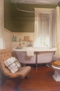 A fancy bathtub