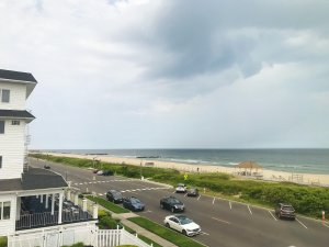 A window view over the beach