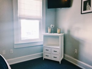Window and small dresser