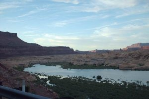 A marshy portion of Lake Powell