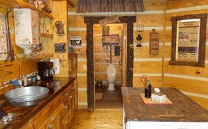 Hillbilly Hiltin Cabin Kitchen